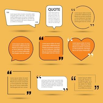 Elementos de diseño de plantilla de texto de cita moderna