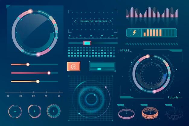 Elementos de diseño de plantillas de interfaz de tecnología