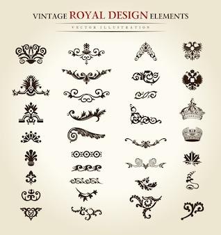 Elementos de diseño real vintage