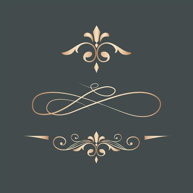 Elementos de diseño de remolino vintage