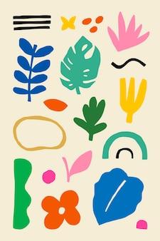 Elementos de diseño tropical para niños.