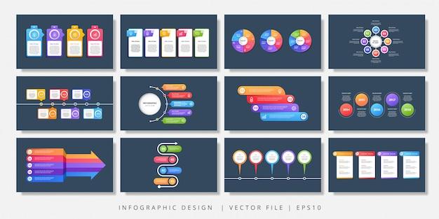 Elementos de diseño vectorial infografía. diseño infográfico moderno