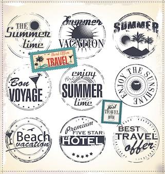 Elementos de diseño de viaje