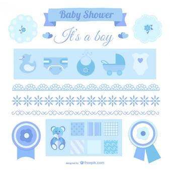 Elementos de diseños de bebé niño