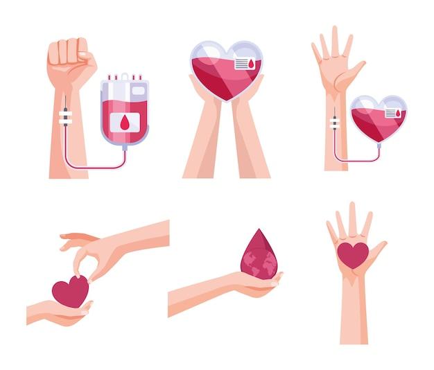 Elementos de donantes de sangre