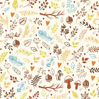 Elementos de doodle de patrón