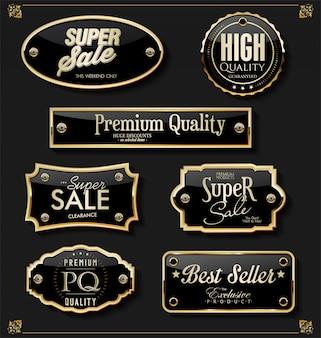 Elementos dorados premium de lujo