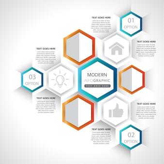 Elementos e iconos de presentación de infografía