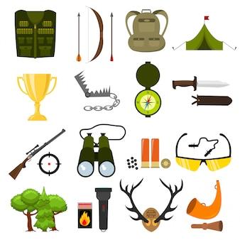 Elementos de equipamiento de accesorios de caza.