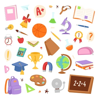 Elementos de la escuela.