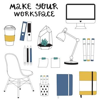 Elementos del espacio de trabajo.