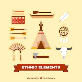 Elementos étnicos de nativos americanos