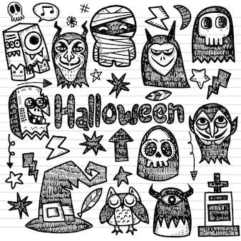 Elementos de feliz halloween