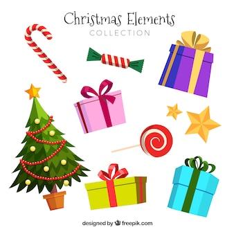 Elementos feliz navidad