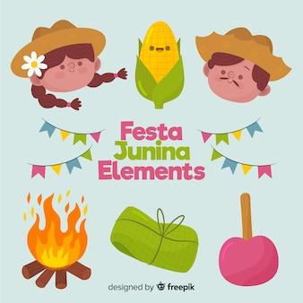 Elementos de la fiesta junina