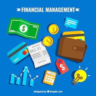 Elementos de finanzas con diseño plano