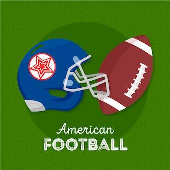 Elementos de fútbol americano ilustrados