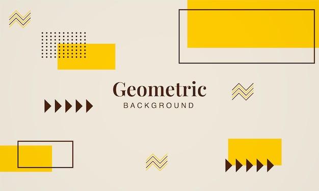 Elementos geométricos abstractos fondo retro de memphis plantilla de diseño de moda mínimo moderno