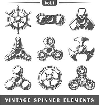 Elementos giratorios de mano