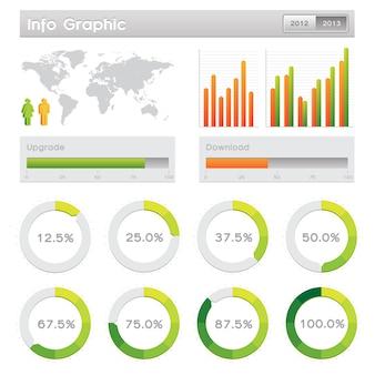 Elementos gráficos de información y concepto de comunicación