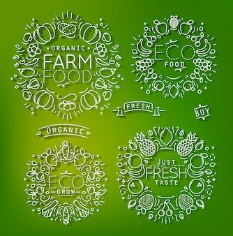 Elementos de granja verde