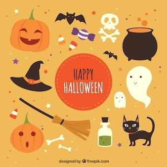 Elementos de halloween graciosos