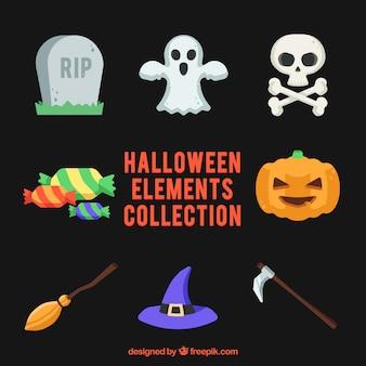 Elementos de halloween modernos