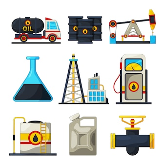 Elementos de la industria de combustible y gas.