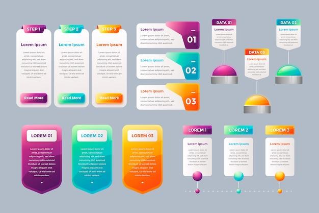 Elementos de infografía brillante realista