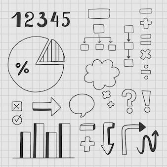 Elementos de infografía para clases escolares.