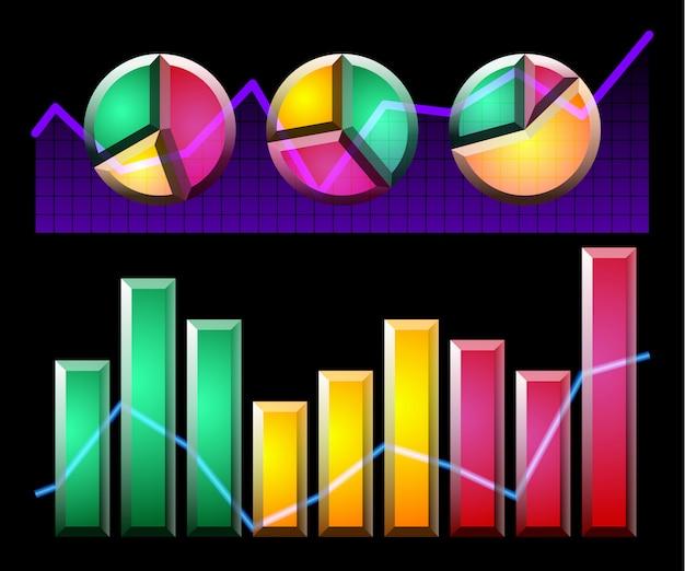 Elementos de infografía y diagramas.