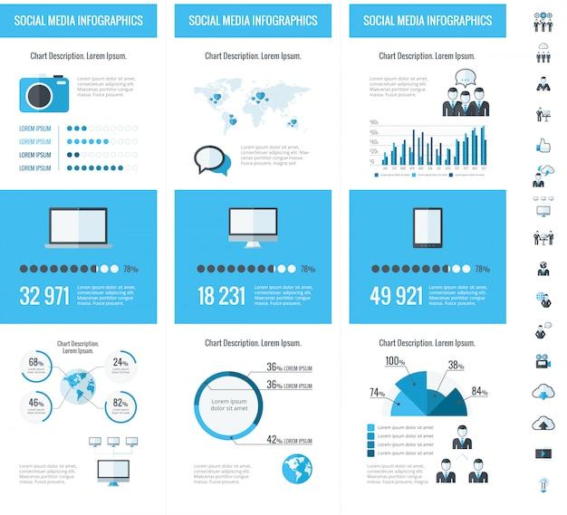 Elementos de infografía empresarial.