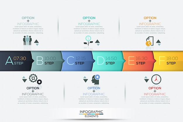 Elementos de infografía infografía timeline negocios