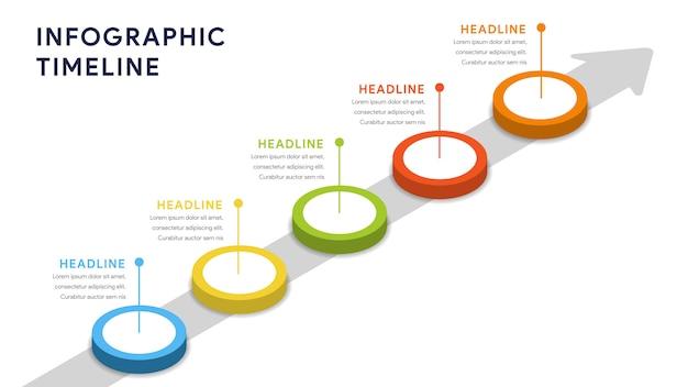 Elementos de infografía para pasos, línea de tiempo, flujo de trabajo.