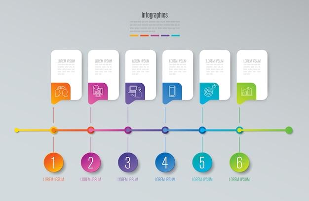Elementos de infografía timeline para la presentación