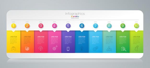 Elementos de infografía timeline