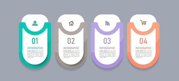 Elementos de infografías de negocios