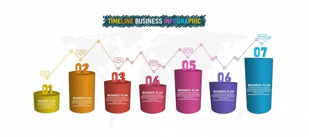 Elementos infográficos 3d o diagramas de negocios educativos