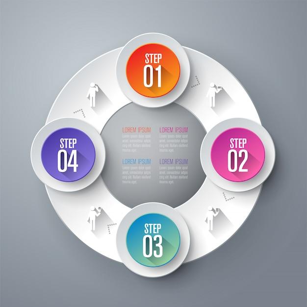 Elementos infográficos de negocios.