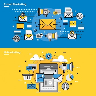 Elementos infográficos sobre marketing por email