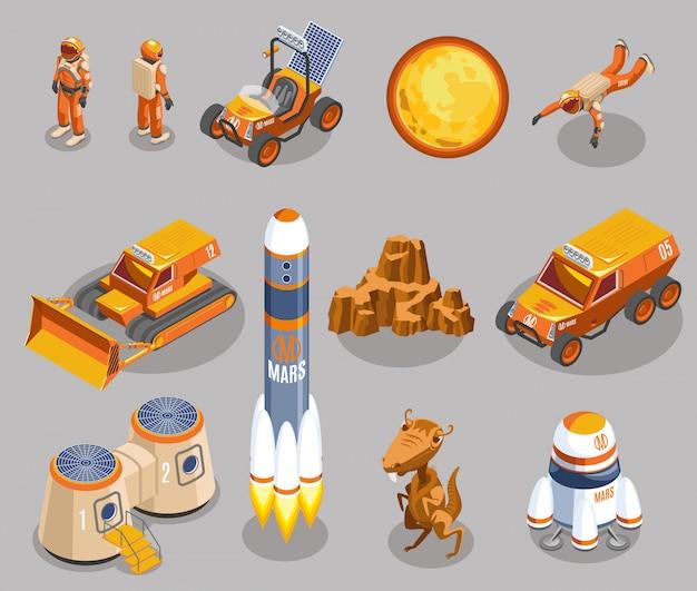Elementos isométricos de exploración espacial