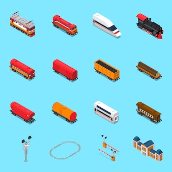 Elementos isométricos de ferrocarril