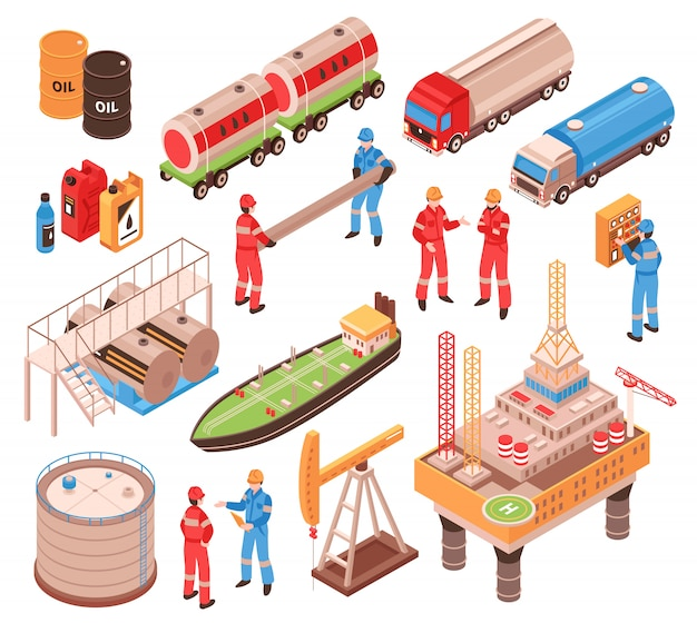 Elementos isométricos de gas y petróleo
