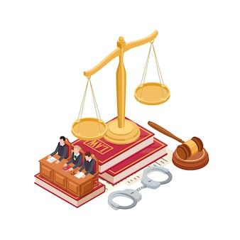 Elementos isométricos de ley y justicia.