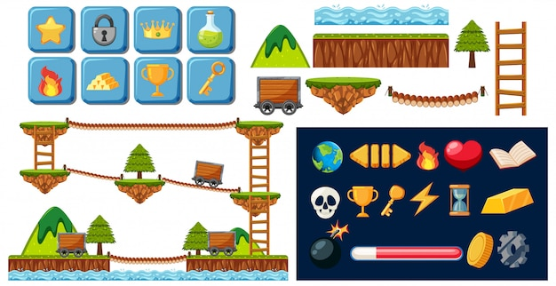 Elementos de un juego de minas.