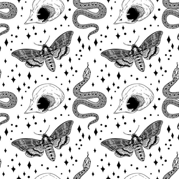 Elementos mágicos de patrones sin fisuras.