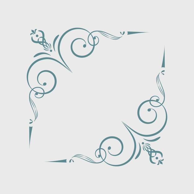 Elementos de marco ornamentales vintage