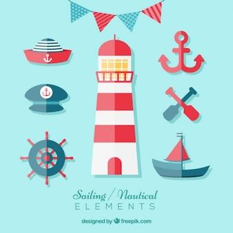 Elementos de navegación en diseño plano