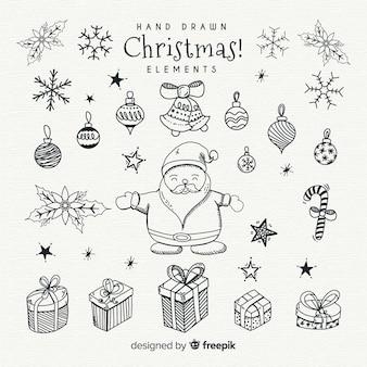 Elementos de navidad bonitos
