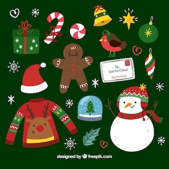 Elementos de navidad con estilo original